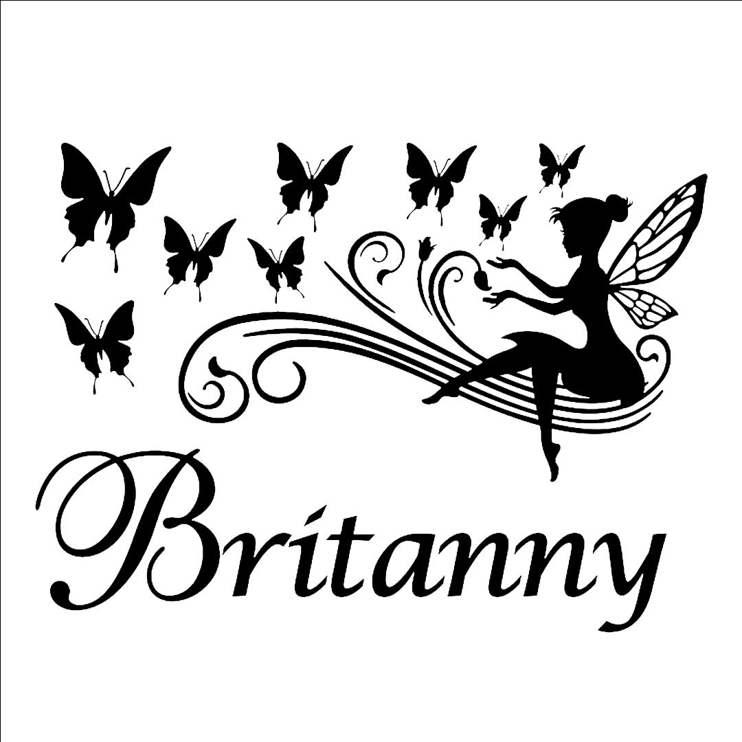 Santadecor Personalized Name Decals Butterfly Magical - Sticker , HD Wallpaper & Backgrounds
