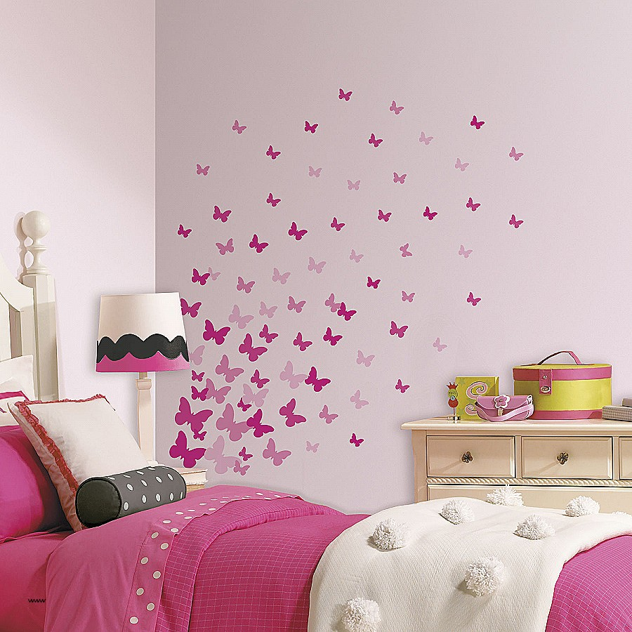 Butterfly Bedroom Decor Aspiration Wall Decals Decal - Decoration Of Girls Room , HD Wallpaper & Backgrounds