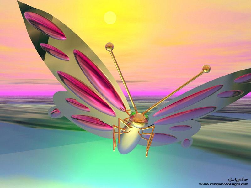 Golden Butterfly - Moths And Butterflies , HD Wallpaper & Backgrounds