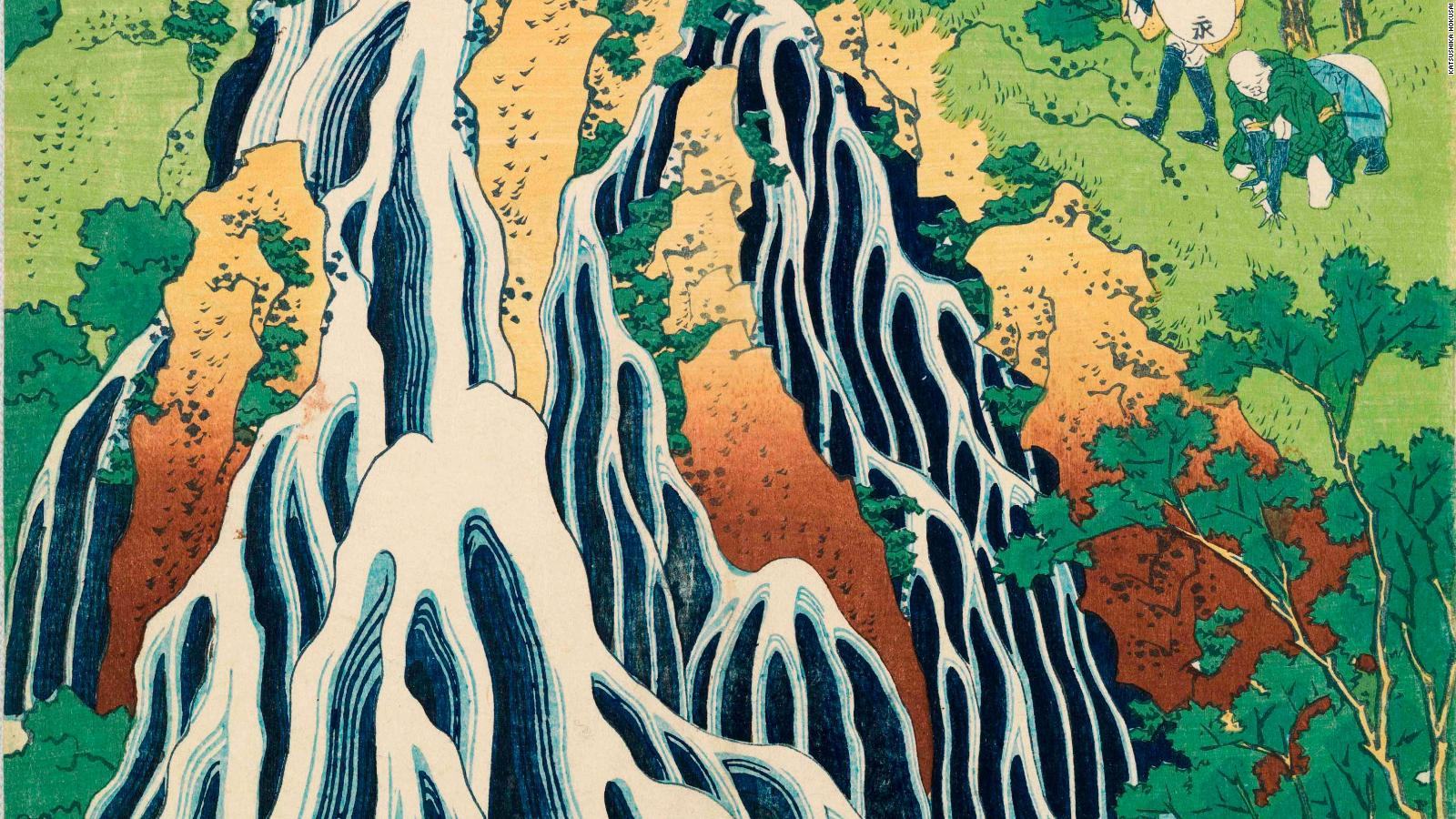 Why The 'great Wave' Has Mystified Art Lovers For Generations - Kirifuri Waterfall At Mount Kurokami In Shimotsuke , HD Wallpaper & Backgrounds