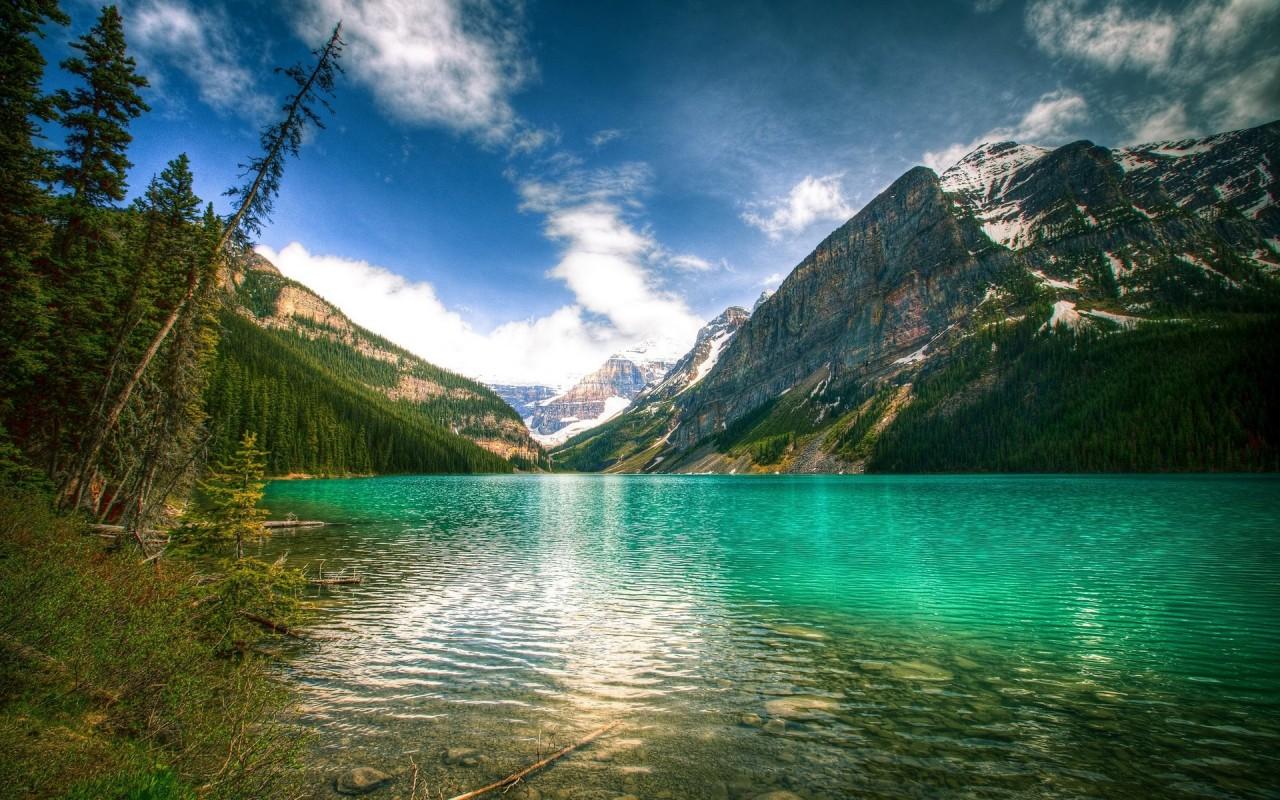 Originalwide Fascinating Lake Louise Canada Wallpapers - Lake Louise Canada , HD Wallpaper & Backgrounds