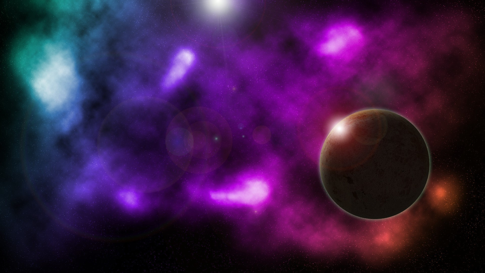 Space Planet Nebula Deep Space Wallpaper And Background - Outer Space , HD Wallpaper & Backgrounds