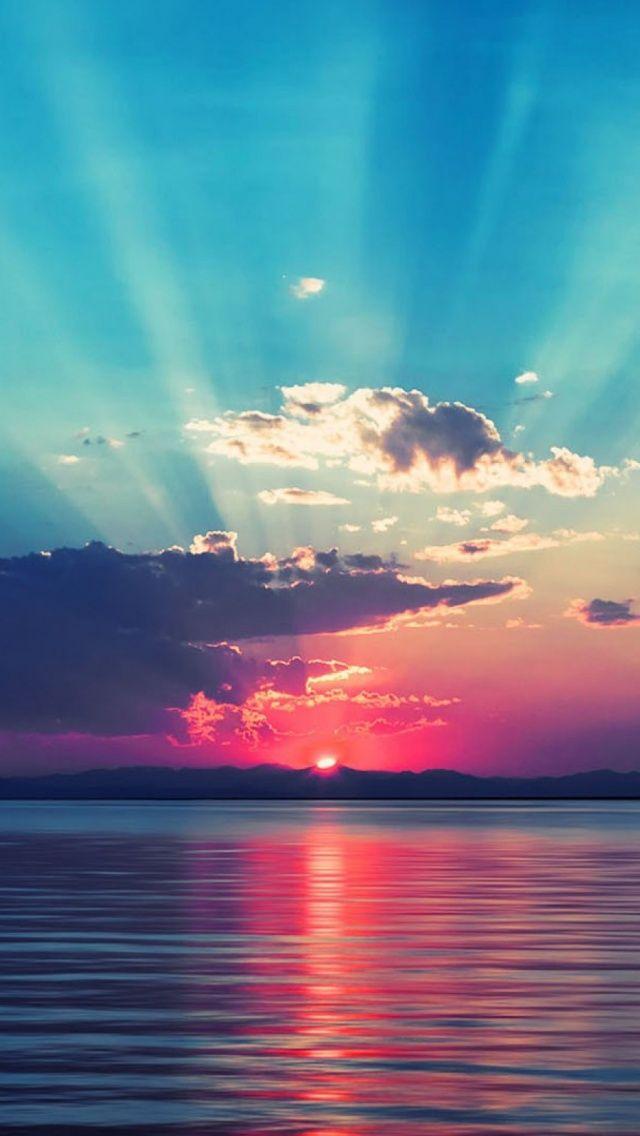 219 2194370 ocean sunset wallpaper sunset hd wallpaper for mobile