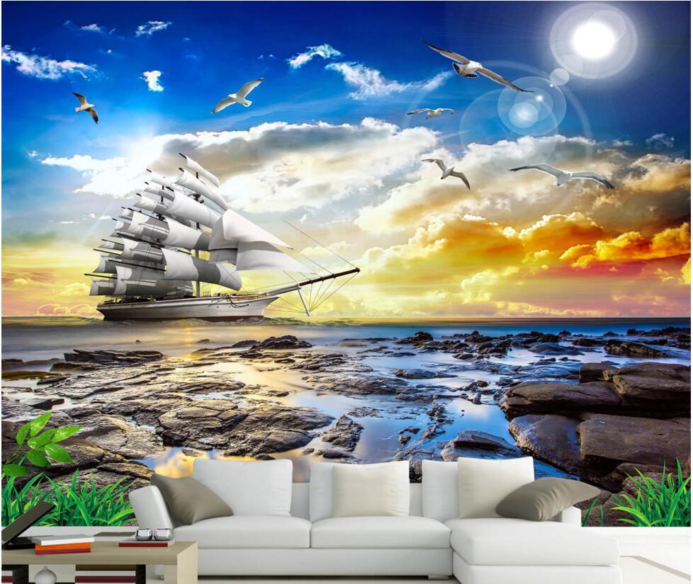 219 2194839 custom mural photo 3d wallpaper picture the sailboat
