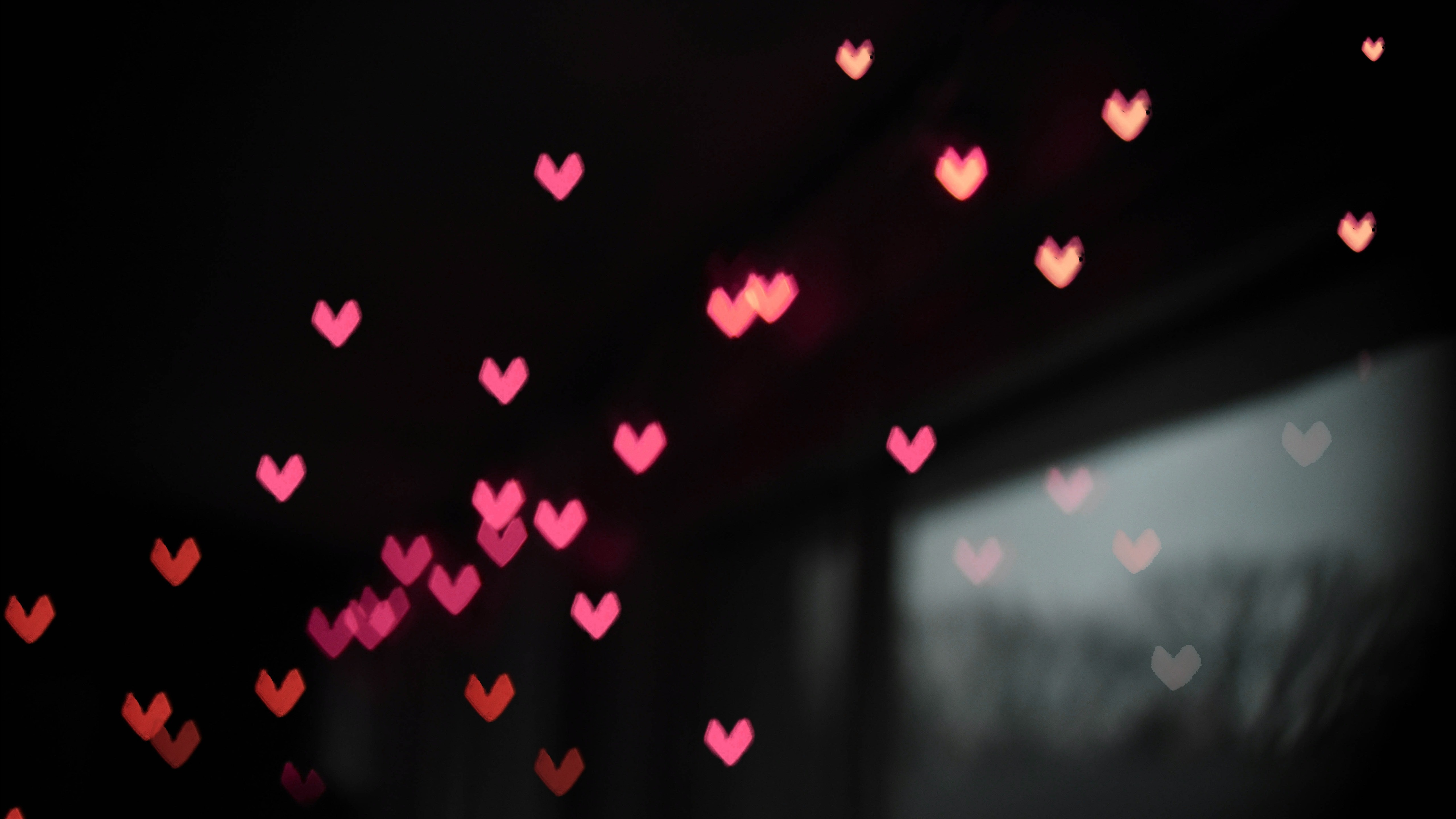 Small Pink Heart In Black Background 5k Abstract Wallpaper Black Wallpaper With Heart 2194948 Hd Wallpaper Backgrounds Download
