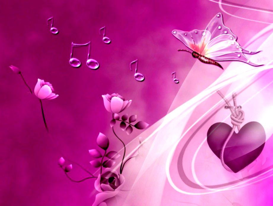 Butterflies Wallpaper Pink Heart And Butterflies Wallpapers