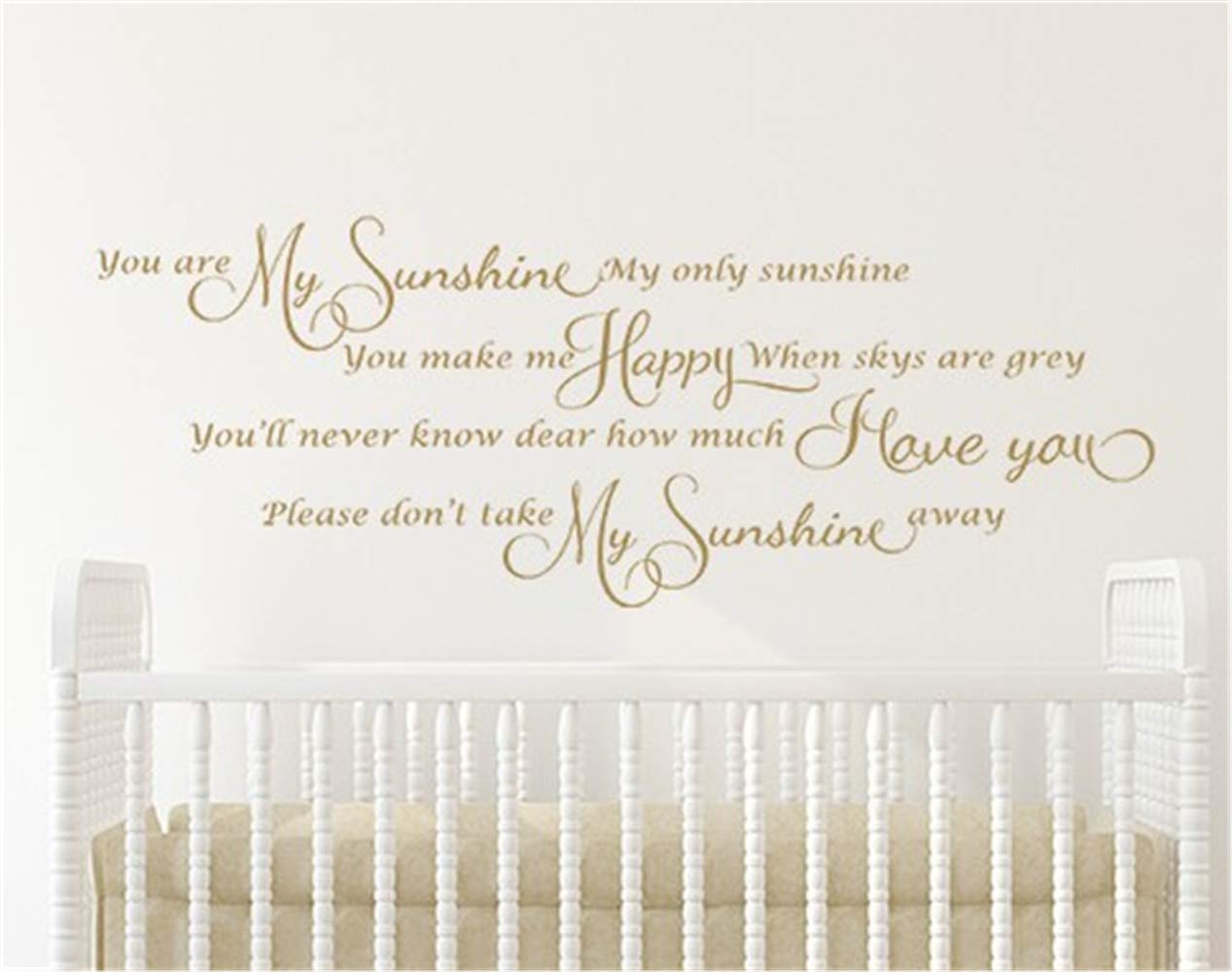 Friari Wall Sticker Quote Wall Decal Funny Wallpaper - You Are My Sunshine Wall Sticker , HD Wallpaper & Backgrounds