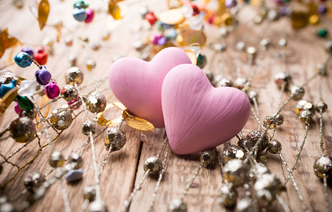 Photo Wallpaper Decoration Love Background Pink New