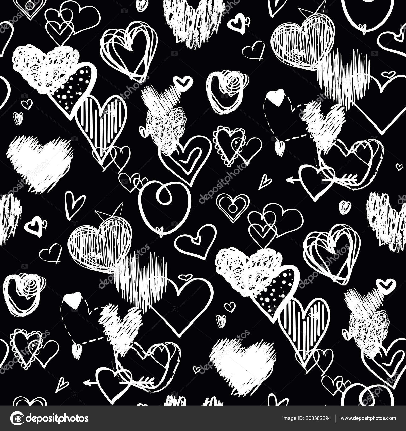 219 2198263 hearts black background abstract seamless wallpaper heart in