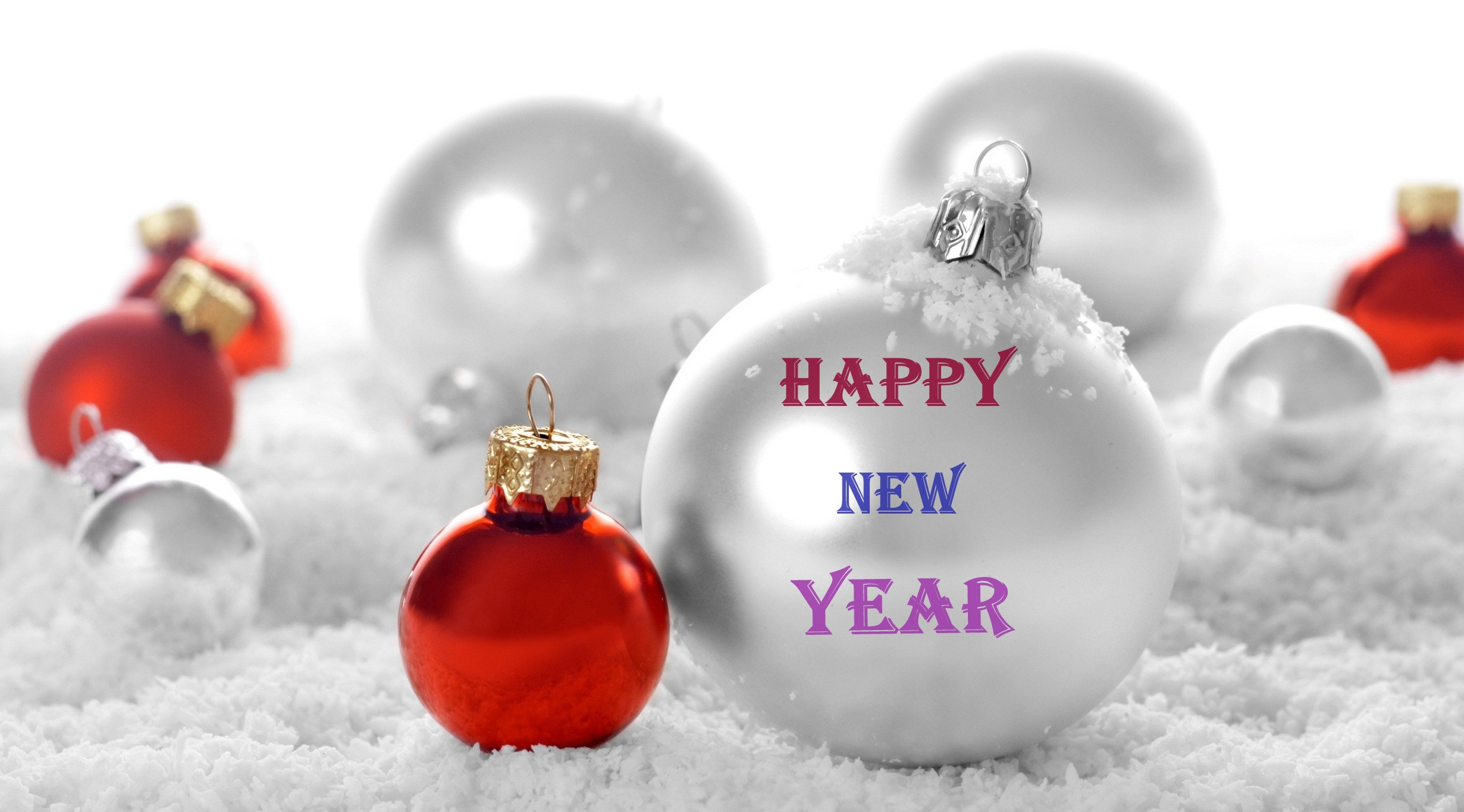 New Year Flower Wallpaper Happy New Year Heart Wallpaper - White Christmas Ornament Background , HD Wallpaper & Backgrounds