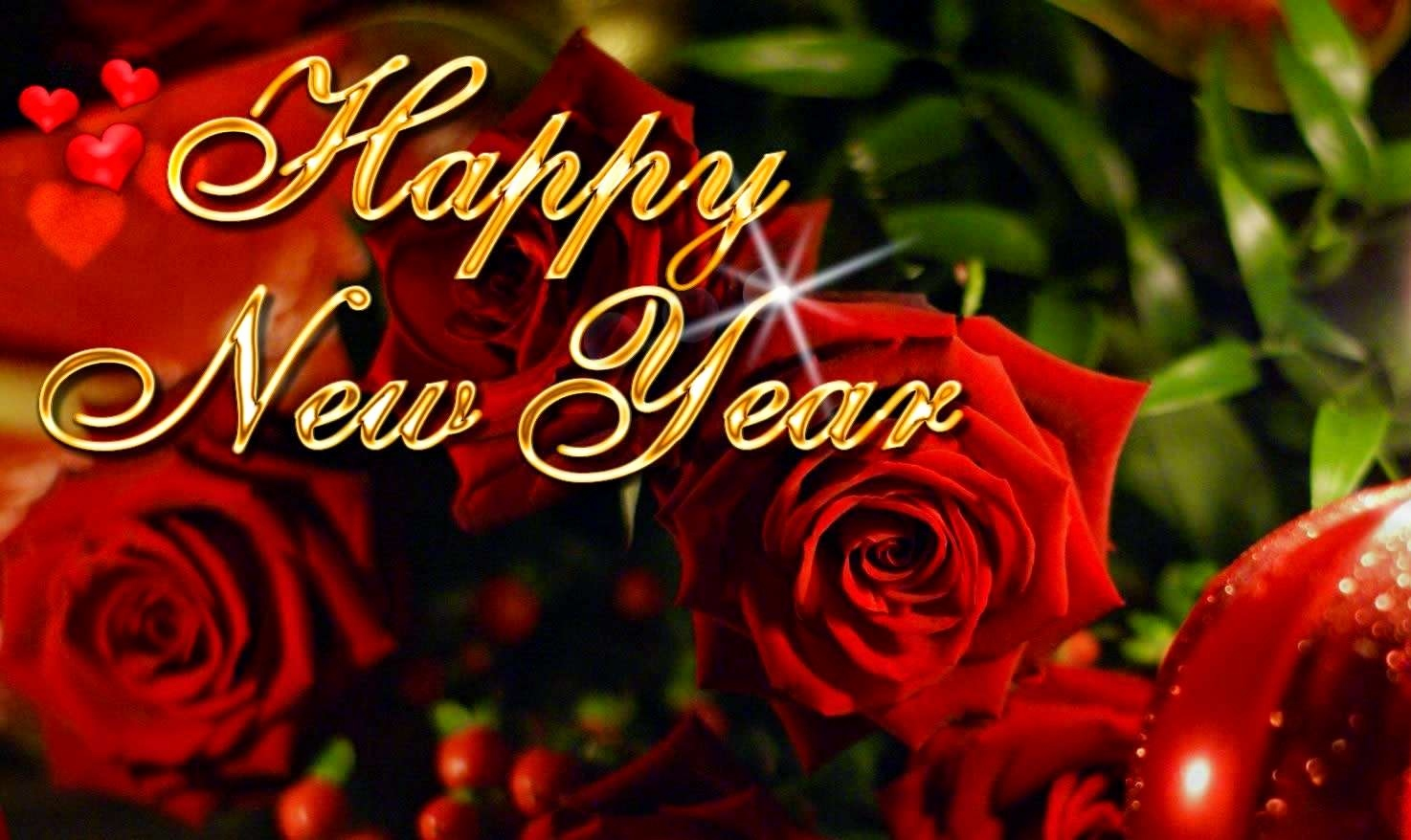 Funny New Year Wishes Quotes 2015 Fresh Happy New Year - Happy New Year 2019 Rose , HD Wallpaper & Backgrounds