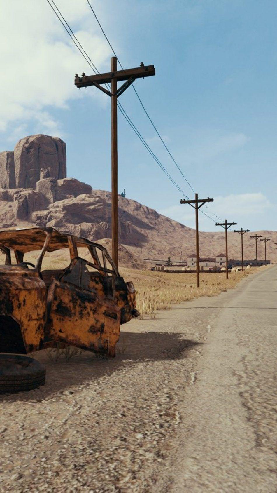 Road To Miramar Desert Playerunknown's Battlegrounds - Pubg Miramar Wallpaper Hd , HD Wallpaper & Backgrounds