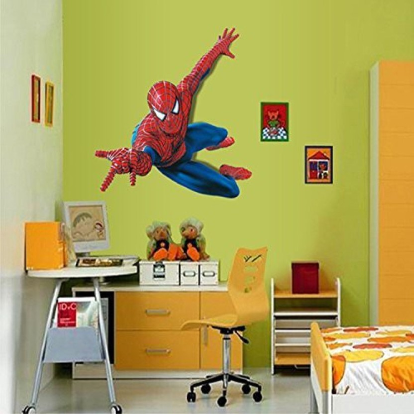 Fucool ® 3d Cartoon Removable Spiderman Wall Stickers - Wall Stickers Of Spider Man , HD Wallpaper & Backgrounds