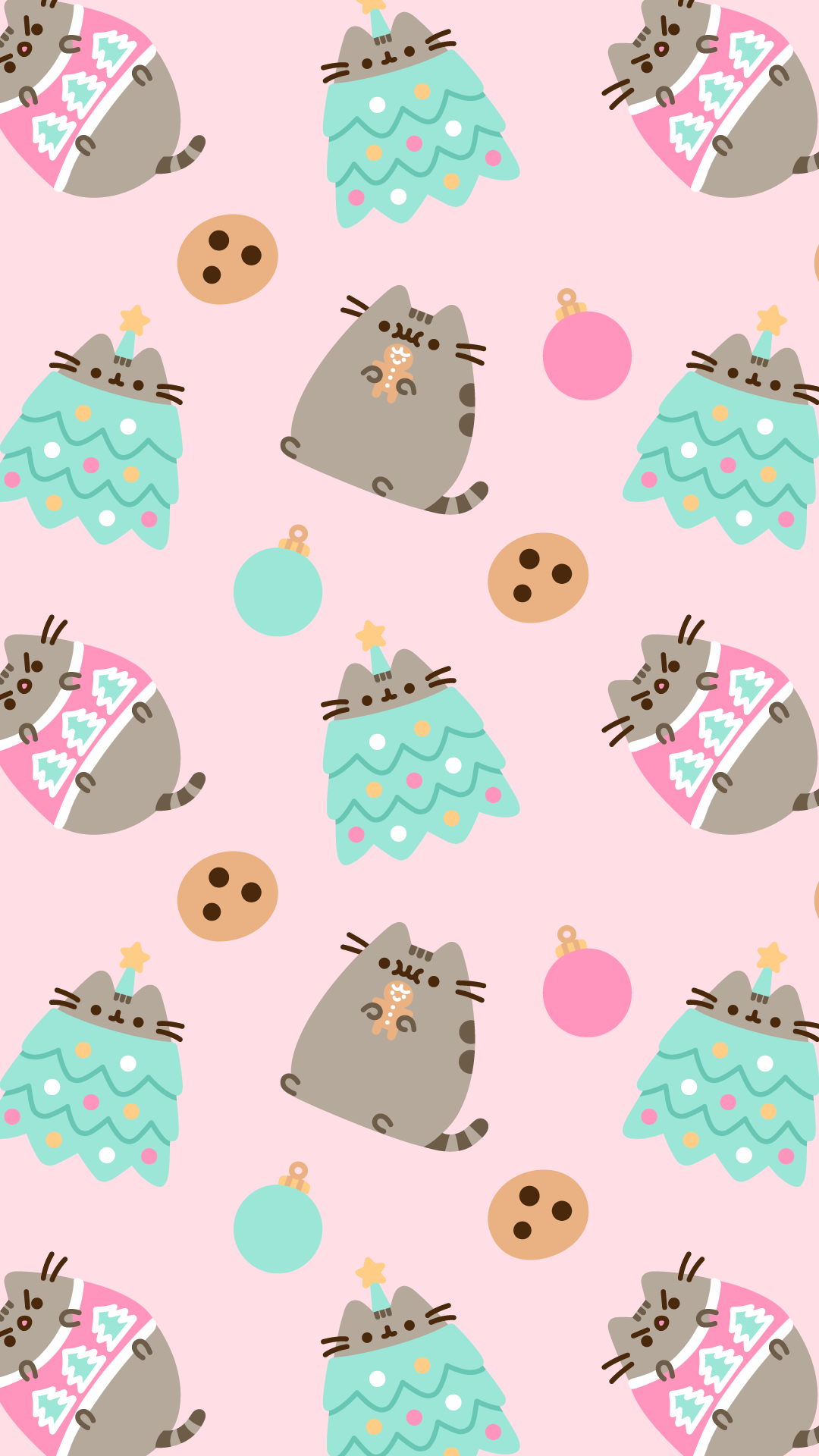 Go Into Gallery And Set As 'wallpaper' - Christmas Pusheen Wallpaper Iphone , HD Wallpaper & Backgrounds