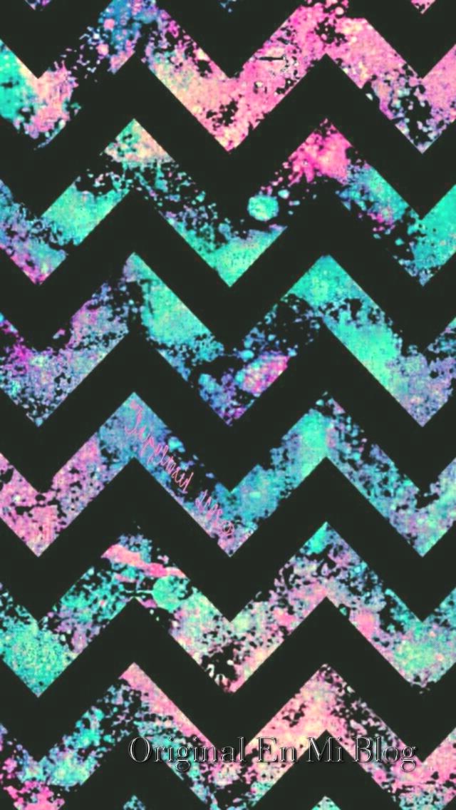 Fondo De Pantalla Whatsapp Dark Colorful Chevron Rocky - Birthday , HD Wallpaper & Backgrounds