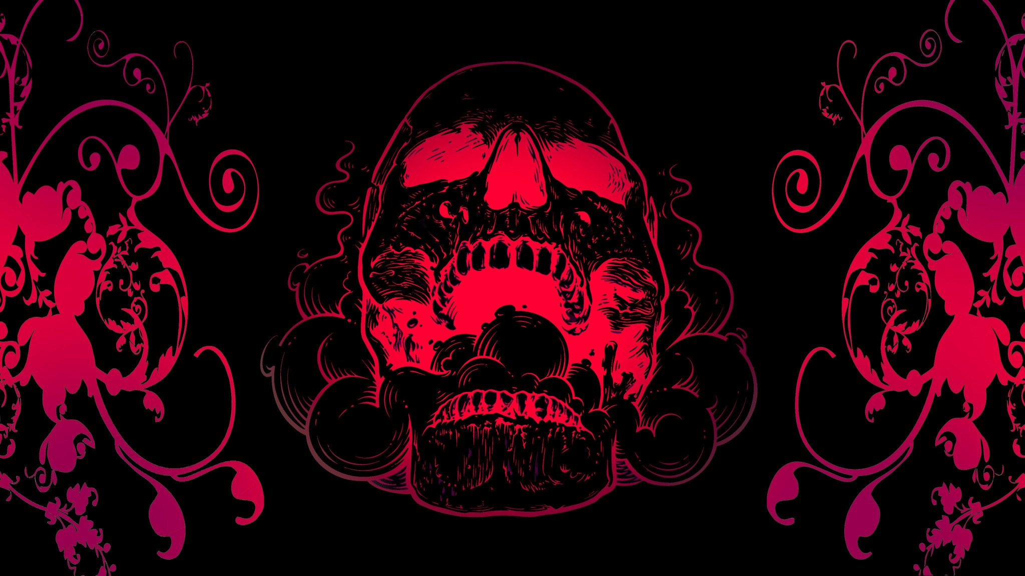 Black And Red Skull 226926 Hd Wallpaper Backgrounds Download