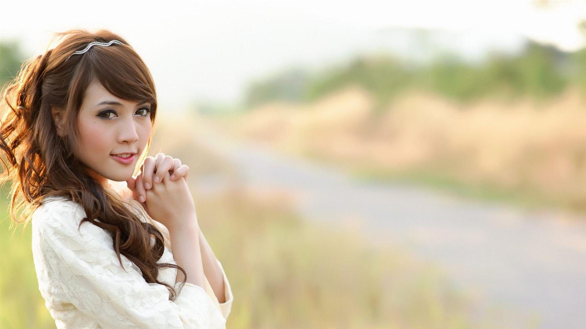 Asian Girl Wallpaper - Cute Girl Background , HD Wallpaper & Backgrounds