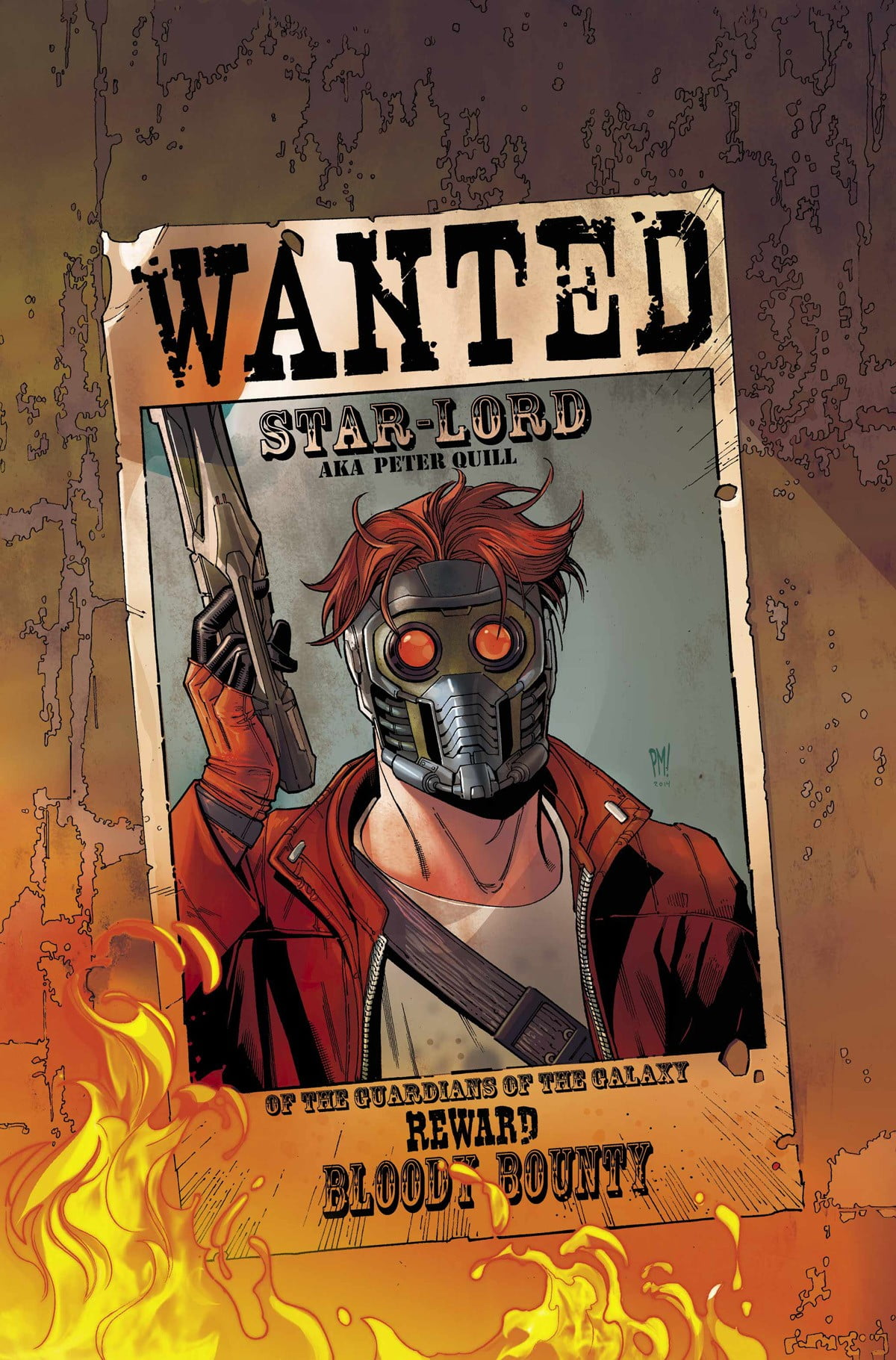 Wanted Star-lord Poster, Star Lord, Wanted, Guardians - Star Lord Comic Art , HD Wallpaper & Backgrounds