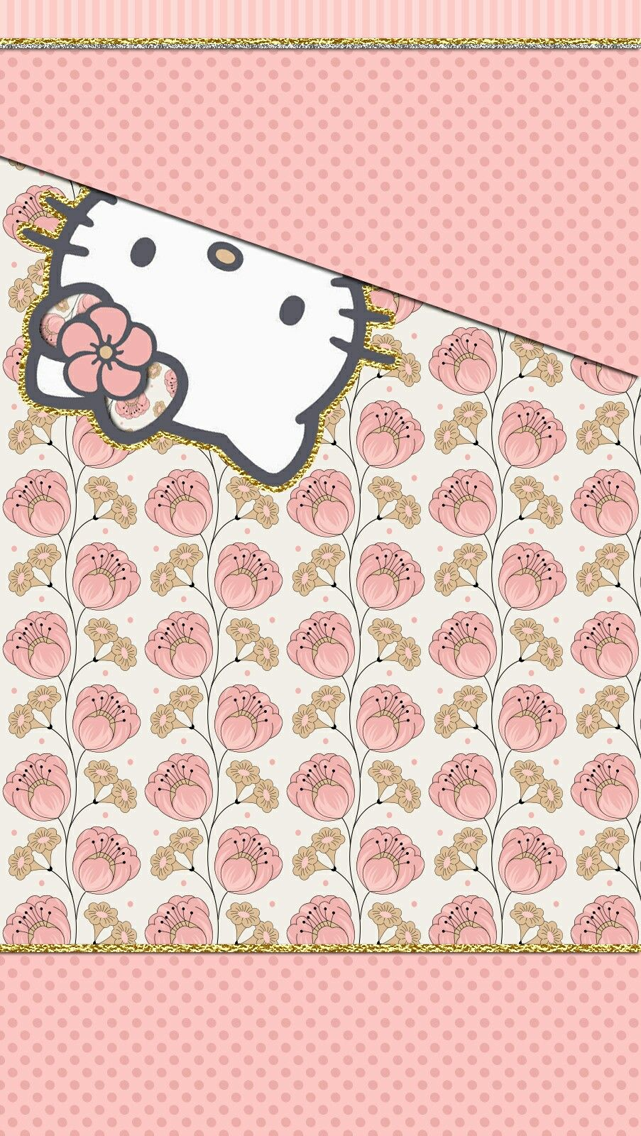 Iphone Wall Hello Kitty Wallpaper Iphone Pink And Black
