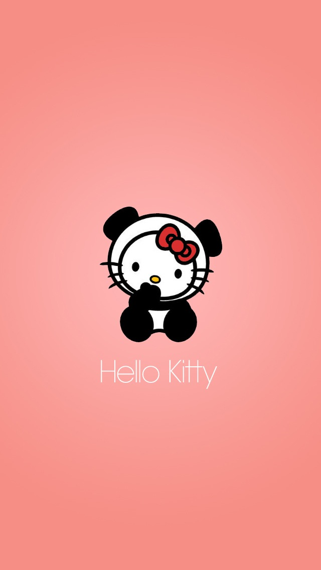 Cute Hello Kitty With Pink Background Hello Kitty Panda