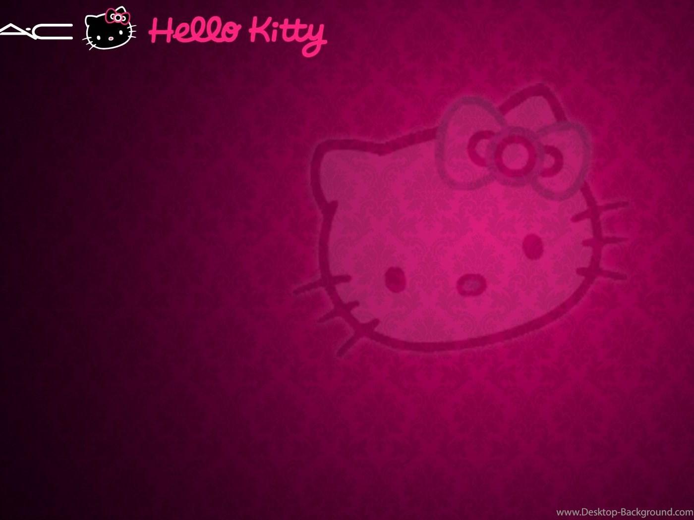 Fullscreen - Dark Pink Hello Kitty Background , HD Wallpaper & Backgrounds