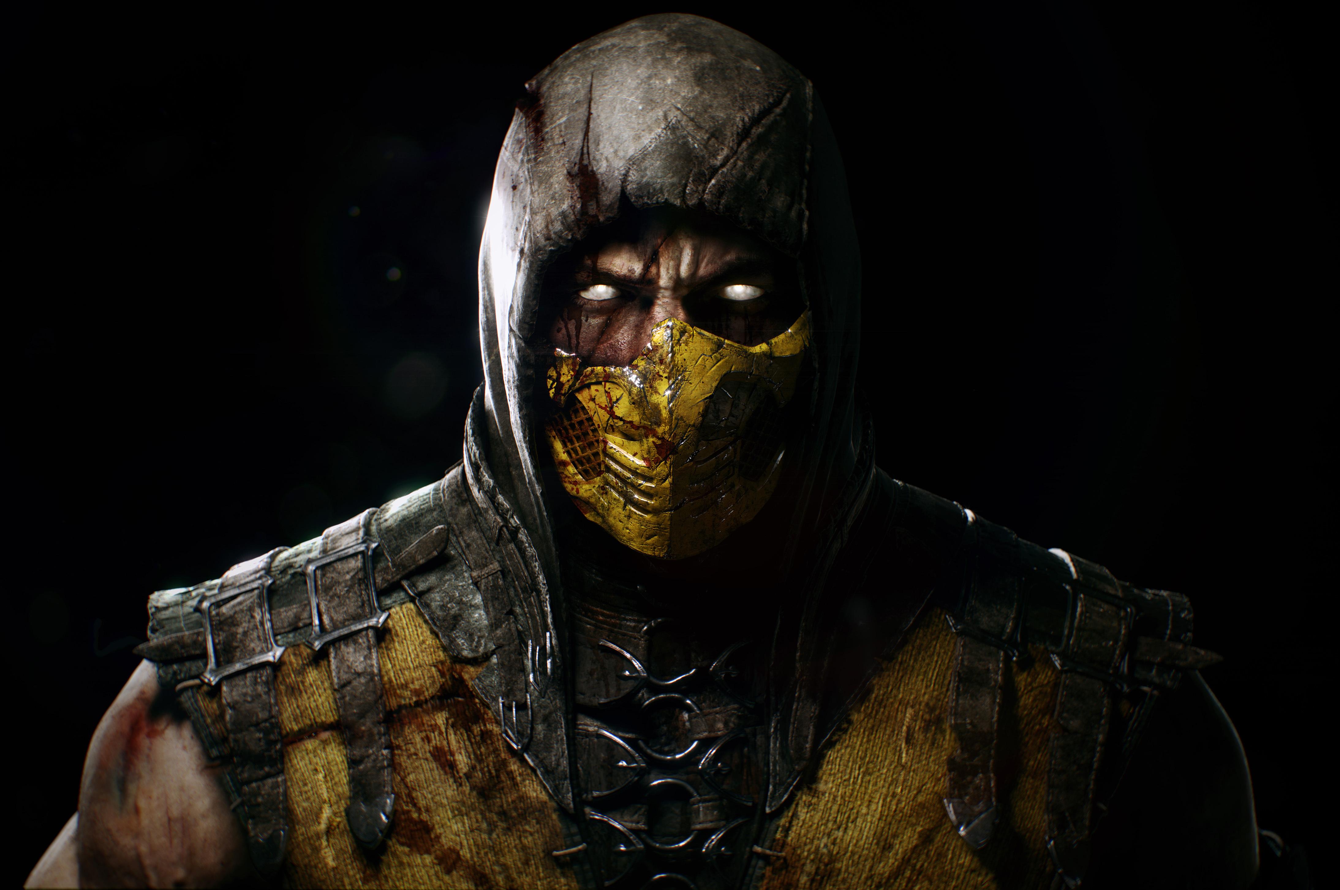 Mortal Kombat X 4k Ultra Hd Wallpaper Scorpion Mortal