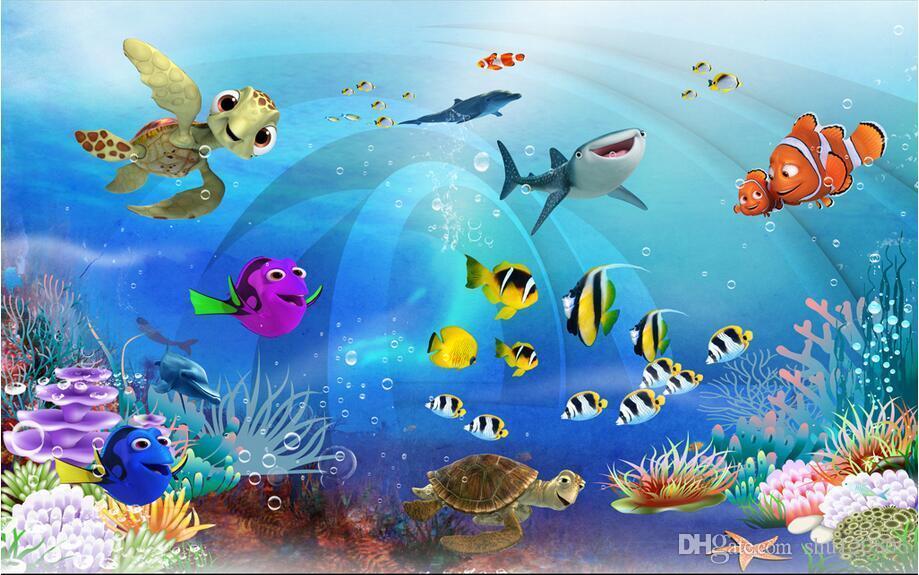 3d Wallpaper Custom Photo Mural Sea World Children