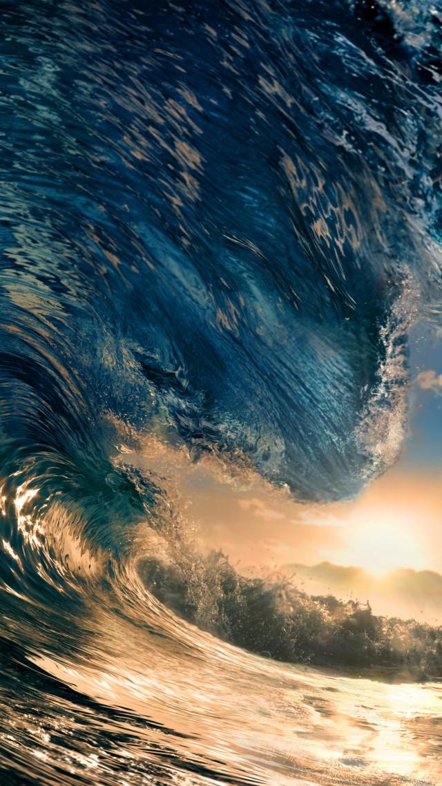 5k, 4k Wallpaper, Ocean, Water, Wave, Sunset, Sky - Ocean Not The Wave , HD Wallpaper & Backgrounds