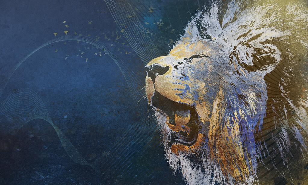 Fedora Leonidas Tags - Digital Art Roaring Lions Art Prints , HD Wallpaper & Backgrounds