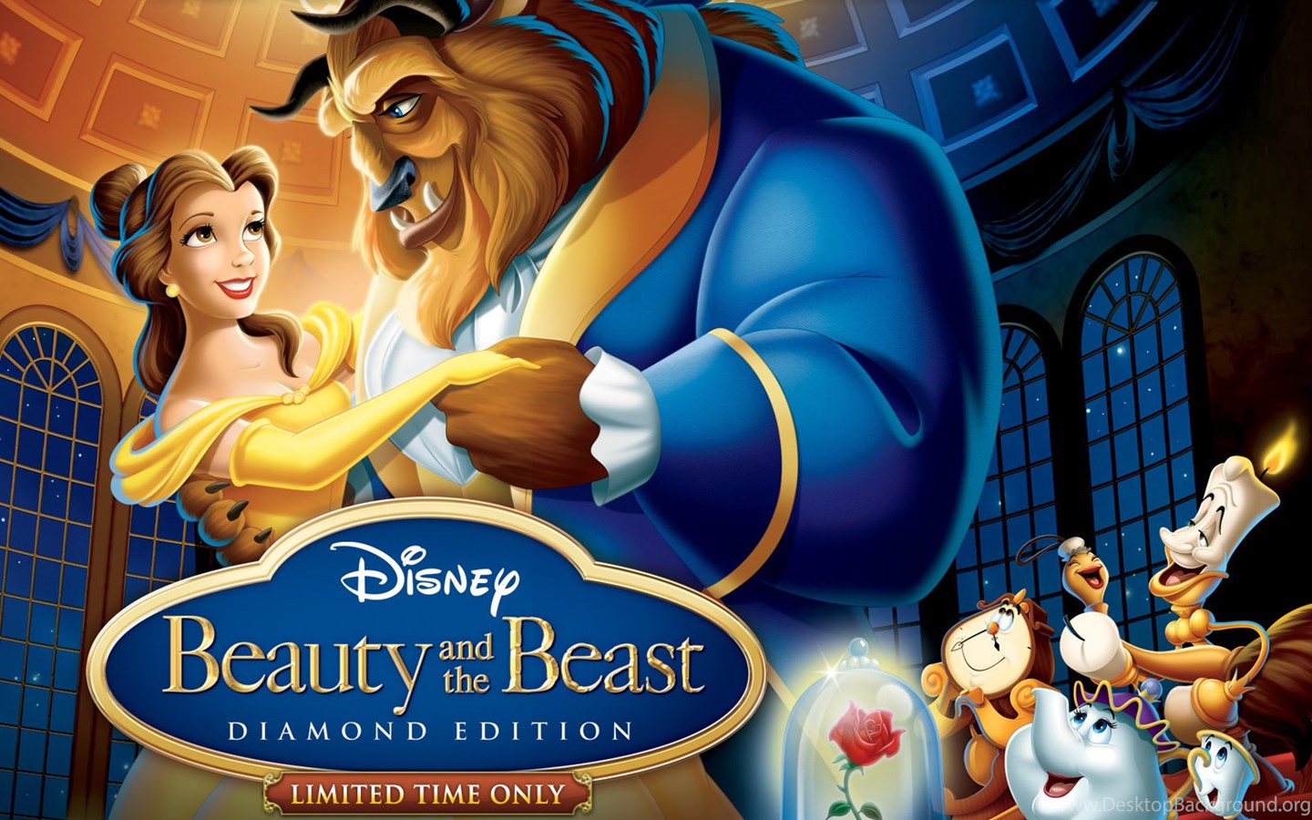 Widescreen Beauty And The Beast 1991 Movie Poster 2211733 Hd Wallpaper Backgrounds Download
