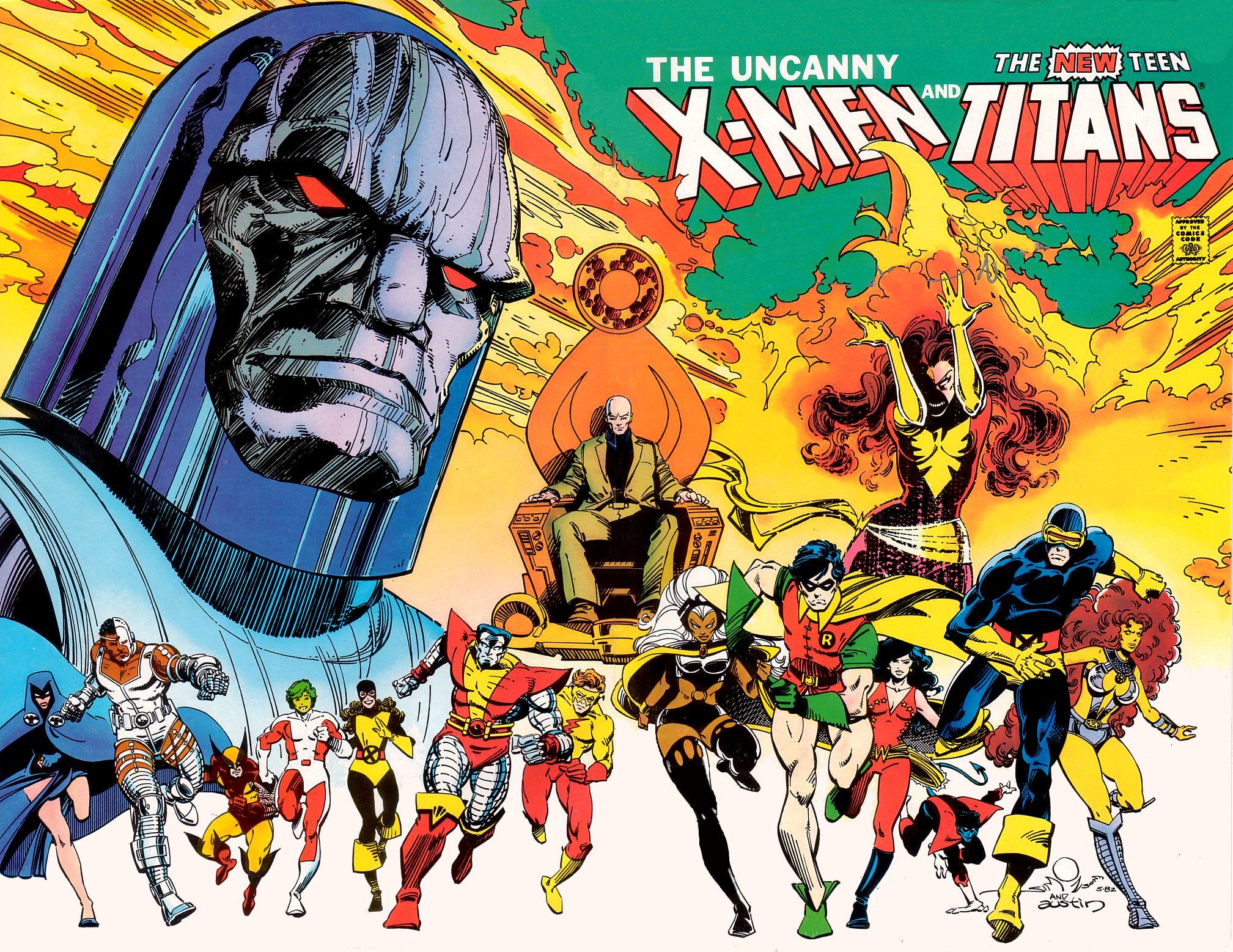 X Men And Teen Titans Teen Titans Uncanny X Men 2212115 Hd