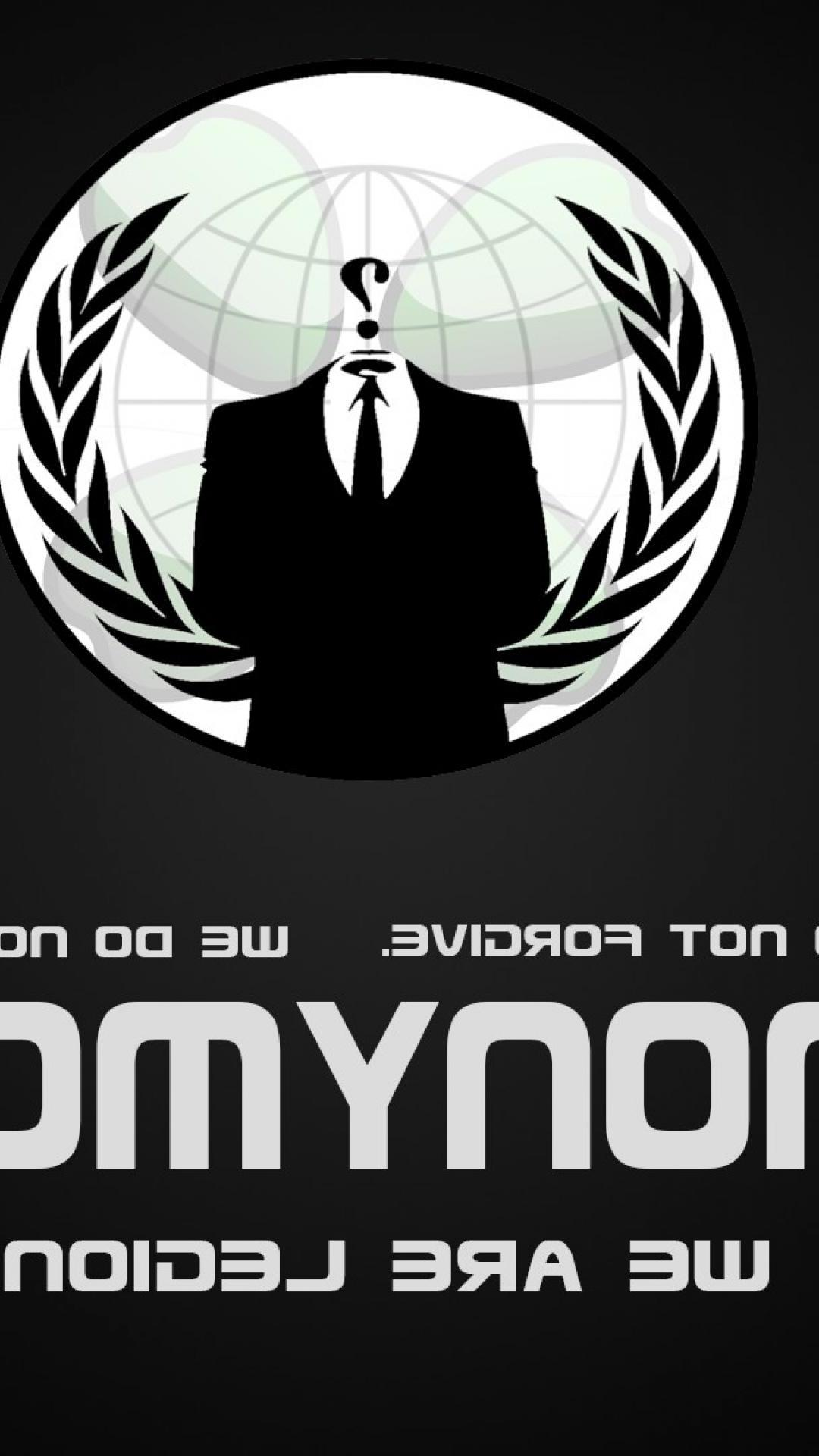 Hq Anonymous Wallpaper For Iphone - Red Black And White Symbol , HD Wallpaper & Backgrounds