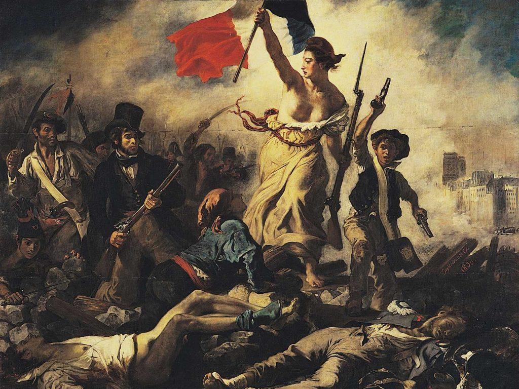 Wallpaper Eugene Delacroix Liberty Leading The People Liberty