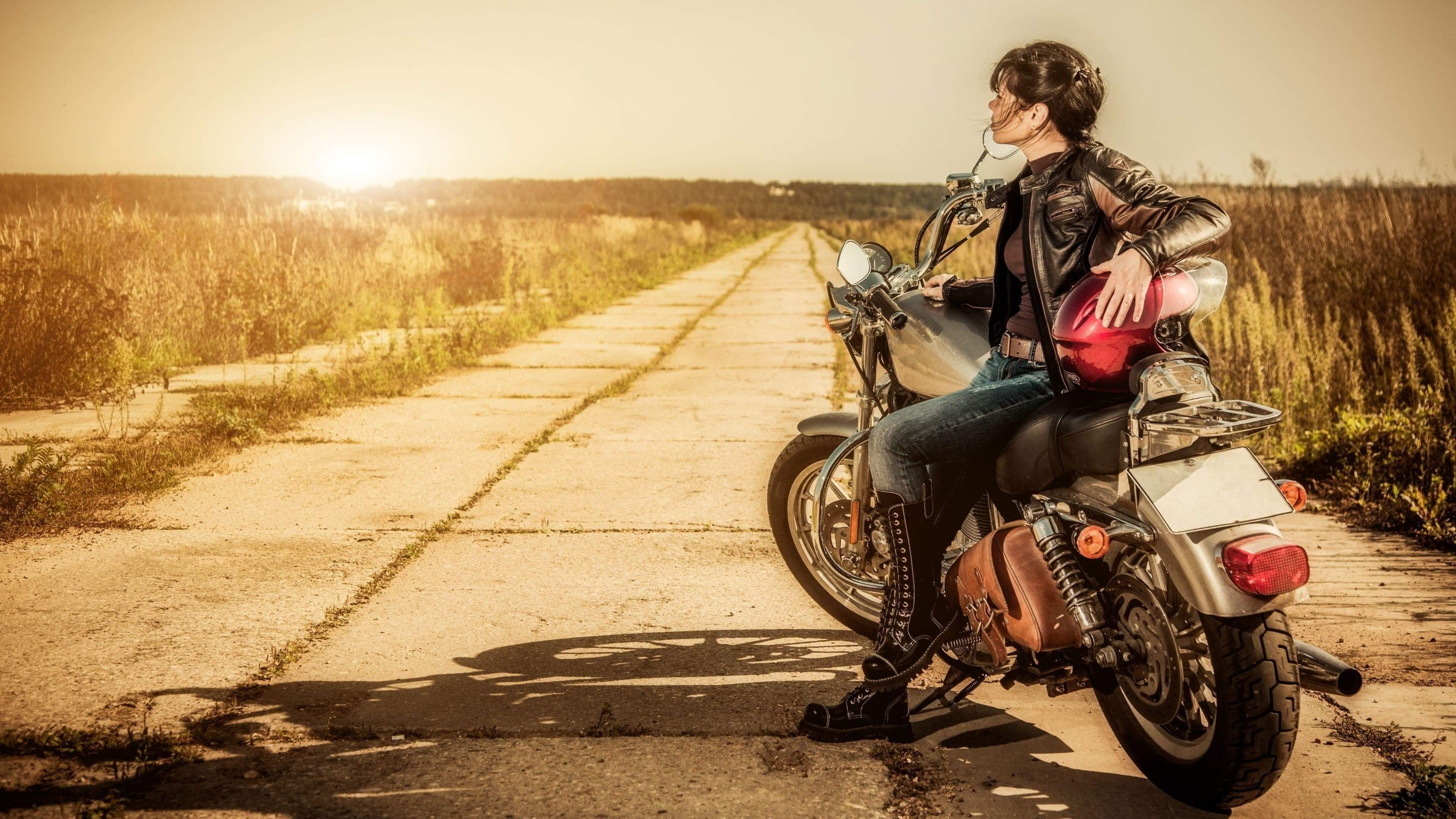 Biker Girl 4k Ultra Hd Wallpaper Biker Girl 2217249 Hd Wallpaper Backgrounds Download