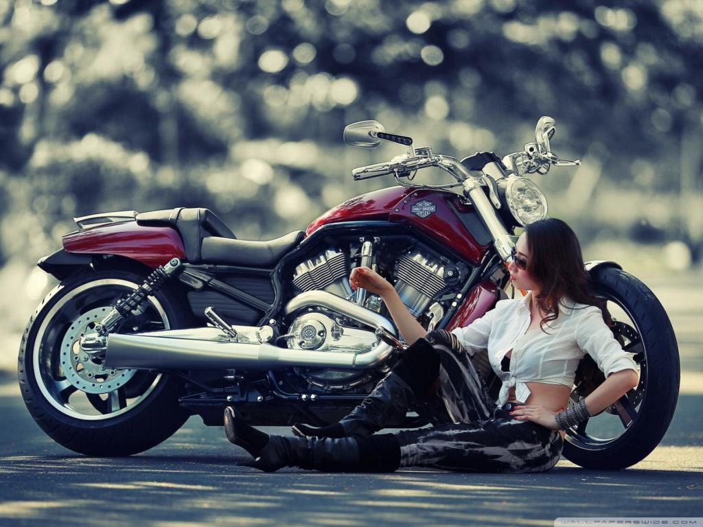Cool Girls With Motor Bike 2217290 Hd Wallpaper
