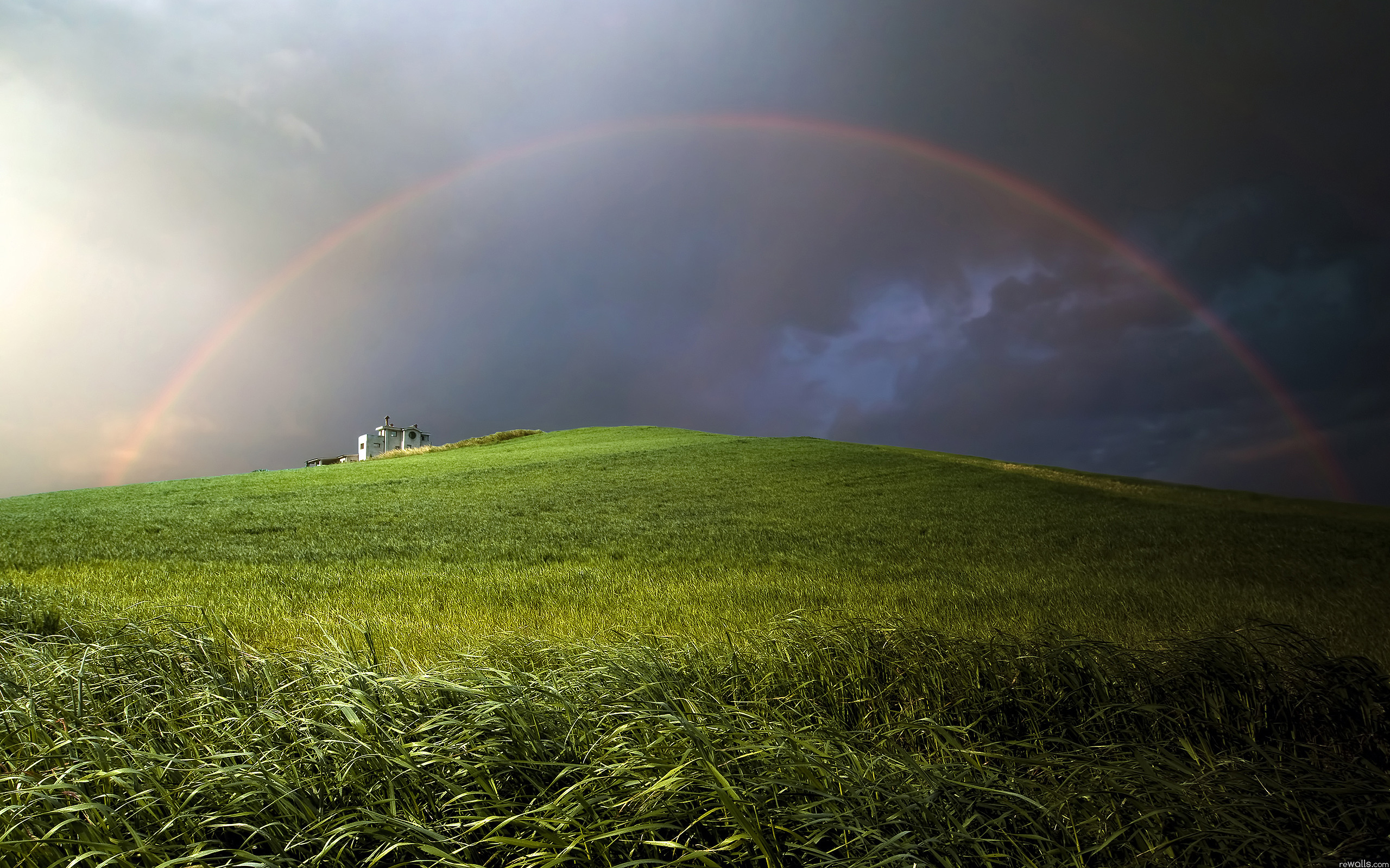 Hill Rainbow Nature Scene With Rainbow 2220506 Hd Wallpaper Backgrounds Download