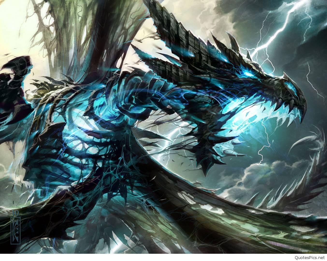 Blue Lightning Dragon Wallpaper - Lightning Dragons ...