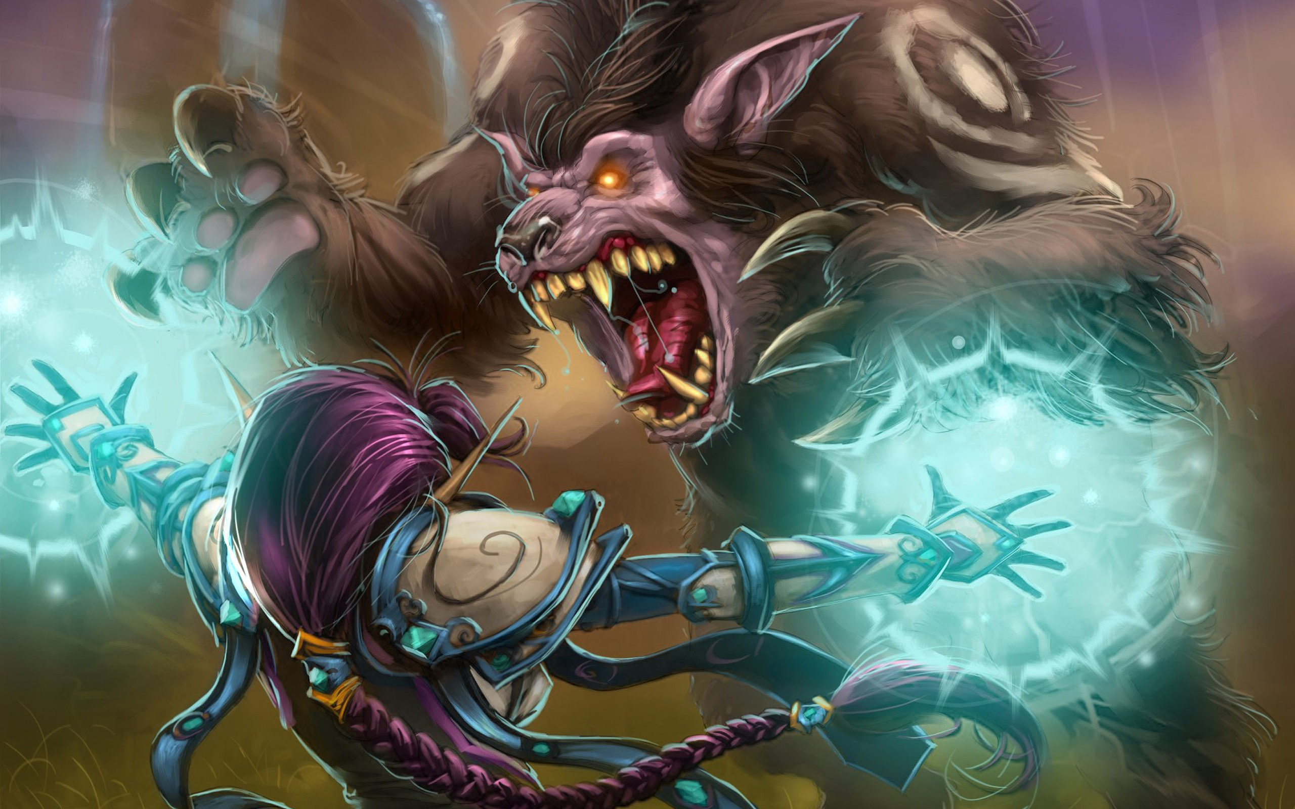 World Of Warcraft Wallpaper Druid - Beast World Of Warcraft , HD Wallpaper & Backgrounds