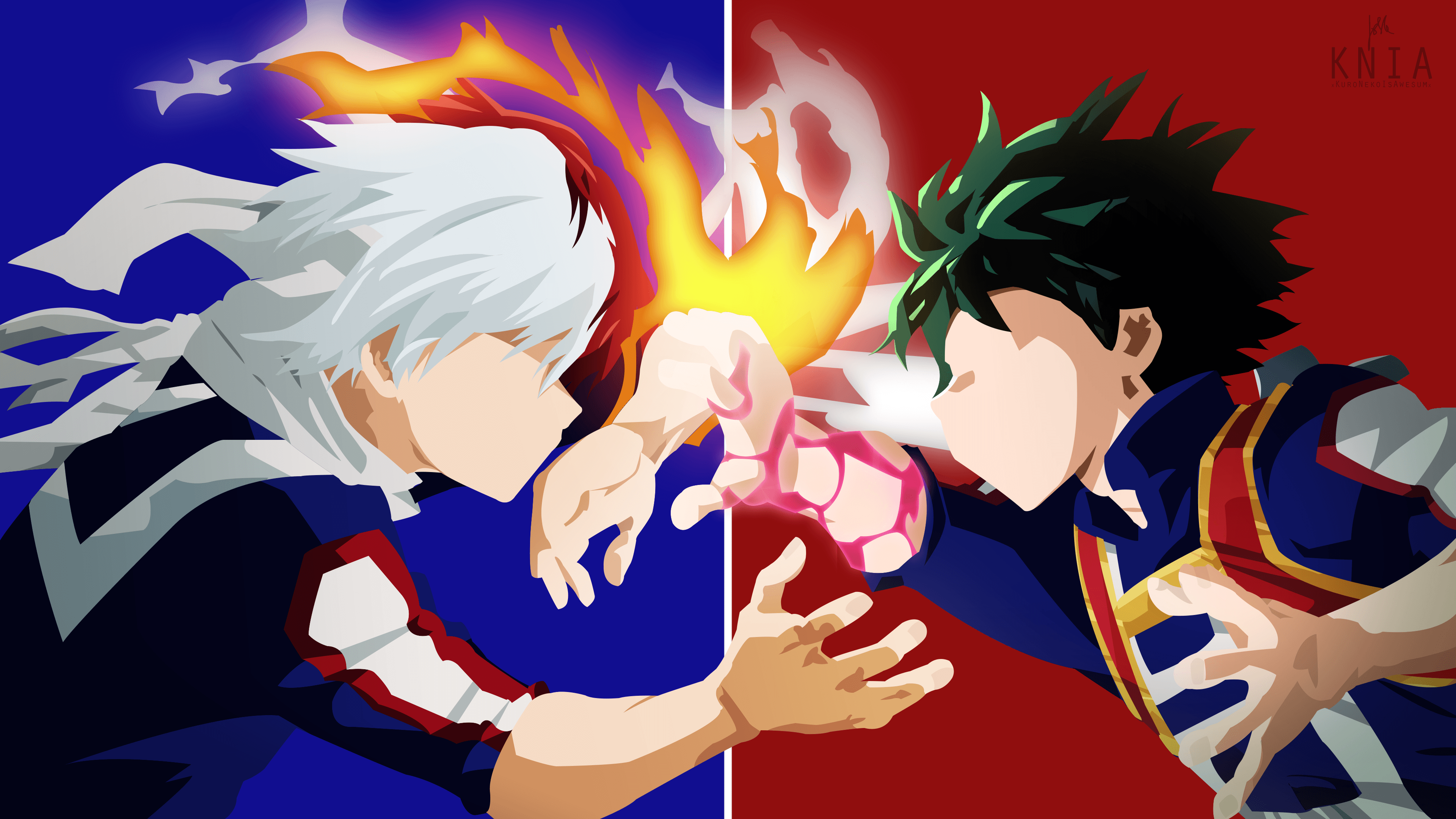 My Hero Academia Todoroki And Deku 2228578 Hd Wallpaper