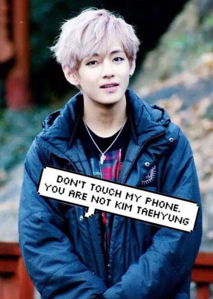 Dont Touch My Phone Wallpaper Bts Taehyung , HD Wallpaper & Backgrounds