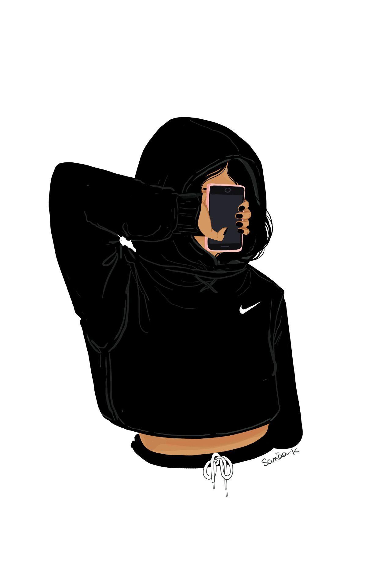 Nike Girl Cartoon Wallpaper