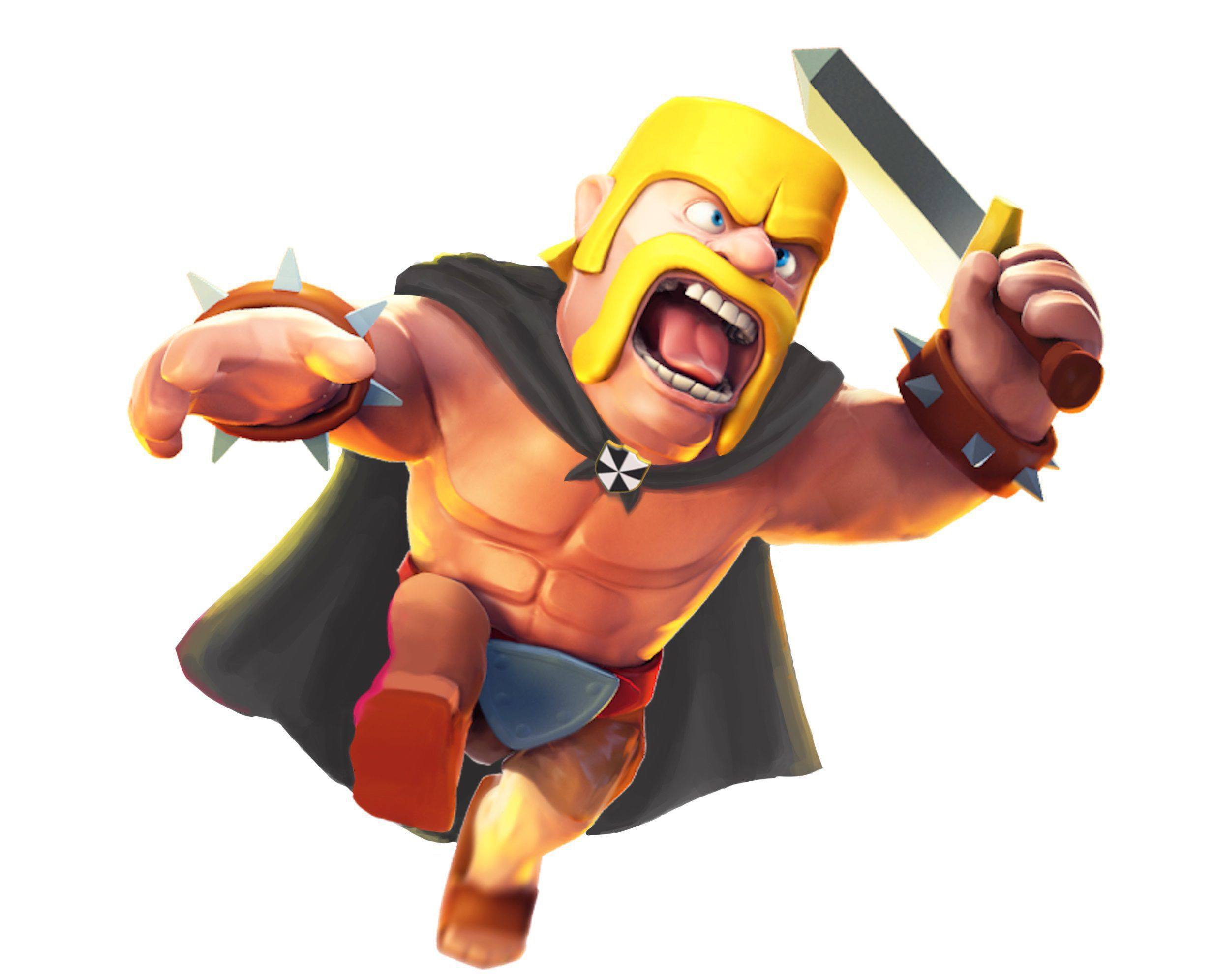 Clash Clans Barbarian Lvl 8 HD Wallpaper