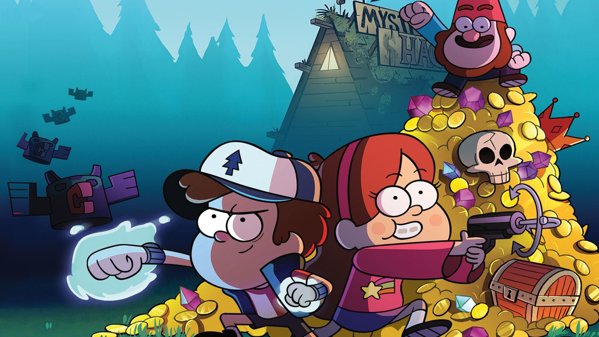 Gravity Falls Legend Of The Gnome Gemulets Dipper , HD Wallpaper & Backgrounds