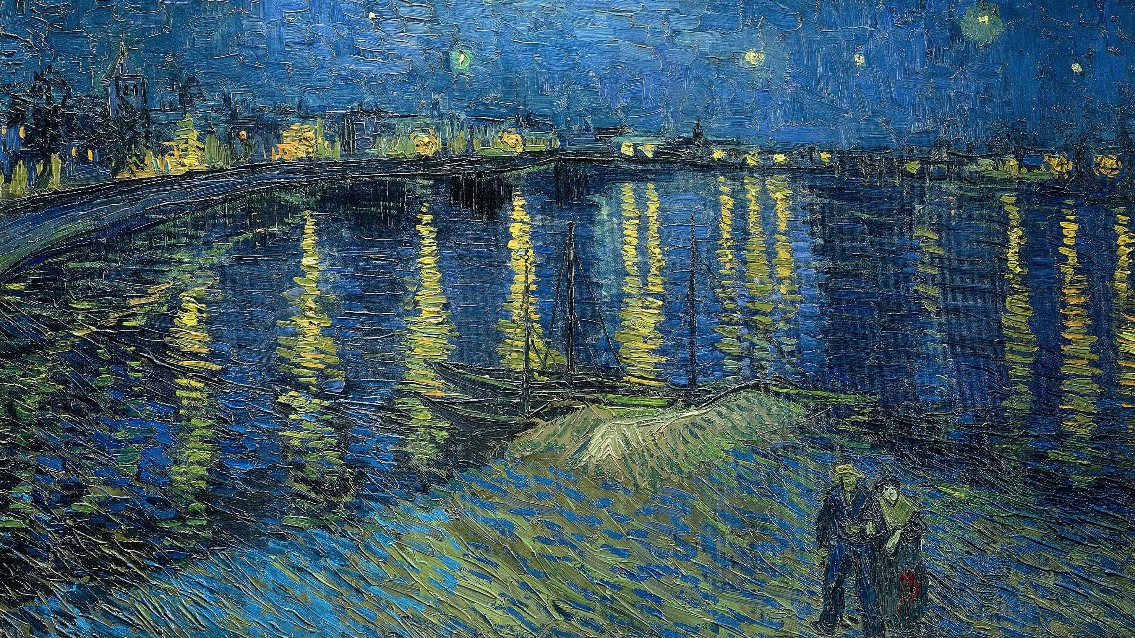 Van Gogh Starry Night 4k 2252514 Hd Wallpaper