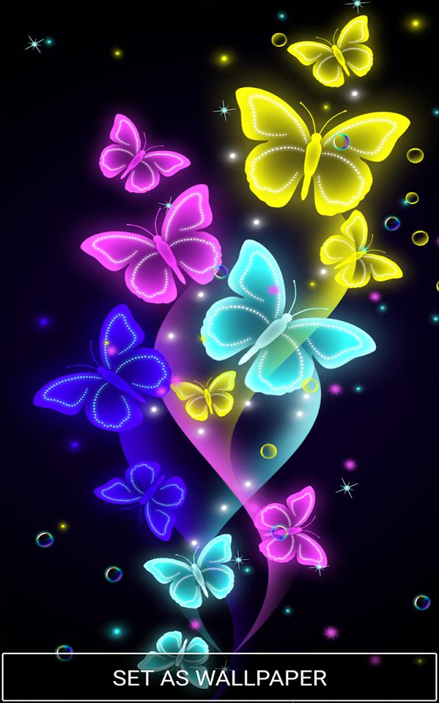 Neon Butterfly , HD Wallpaper & Backgrounds