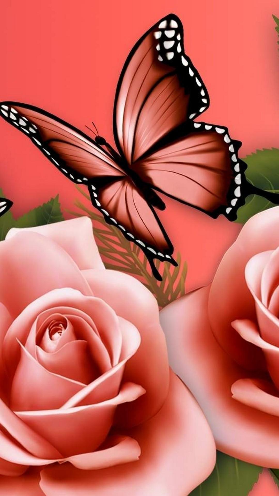 Butterfly Wallpaper Flower Hd 2254814 Hd Wallpaper
