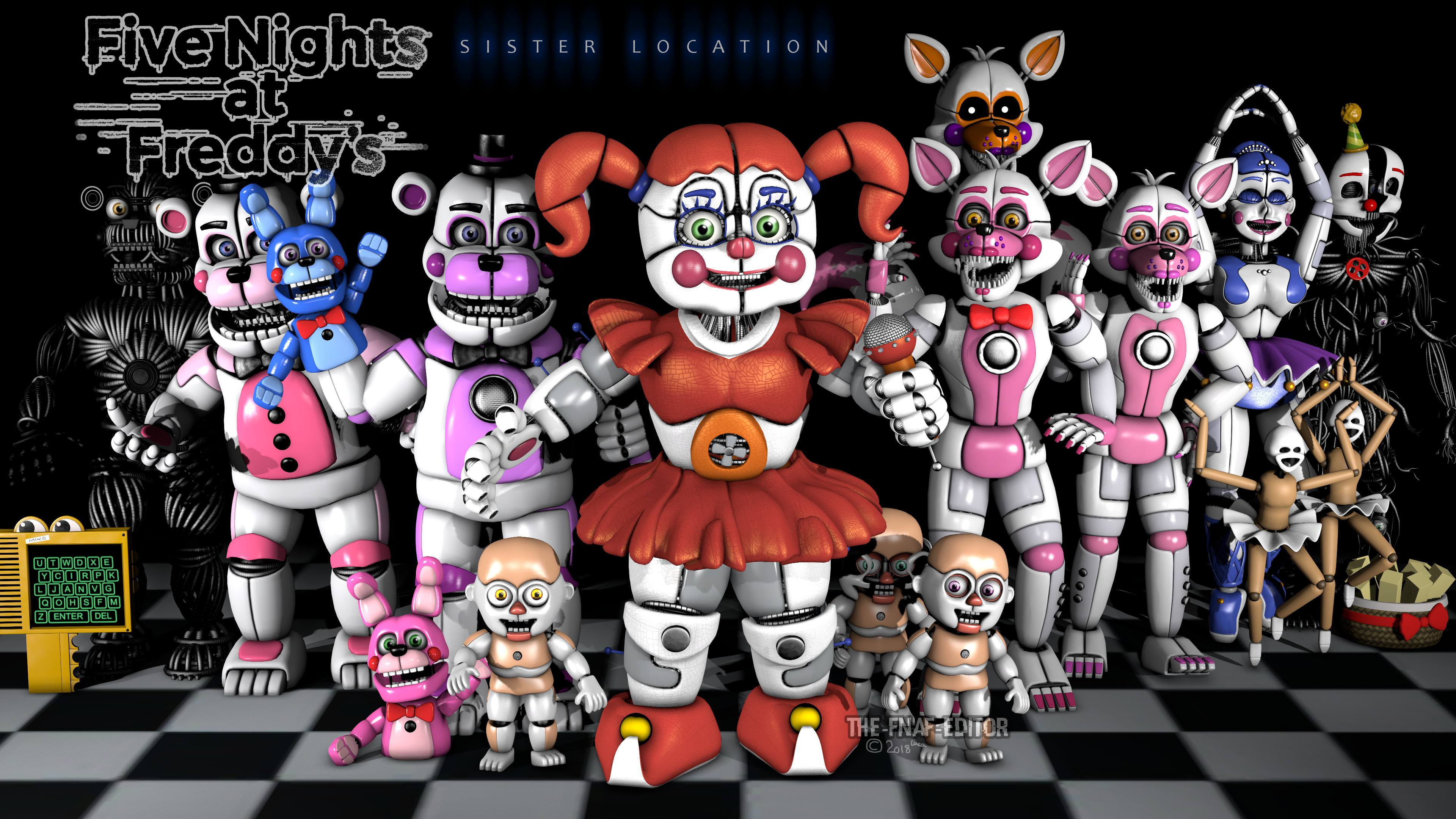 Five Nights At Freddy S Sister Location 2256408 Hd Wallpaper