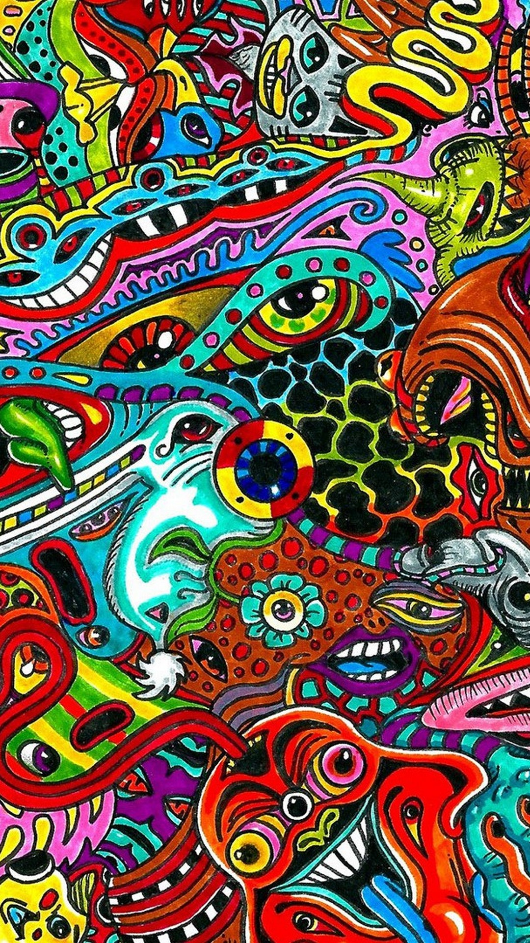 Iphone 7 Psychedelic , HD Wallpaper & Backgrounds