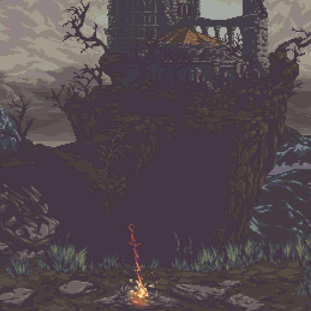 Dark Souls Pixel Art Wallpaper