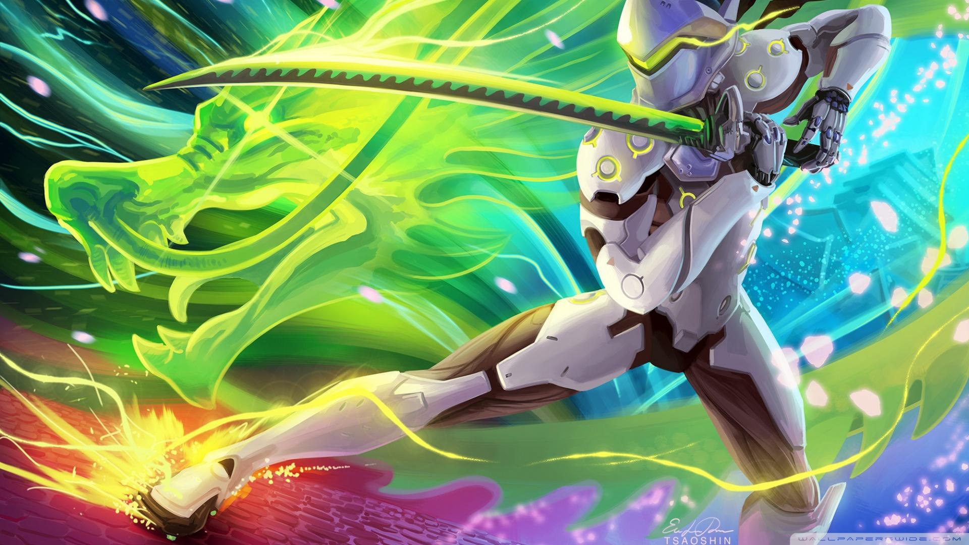 Overwatch Genji 2263302 Hd Wallpaper Backgrounds Download